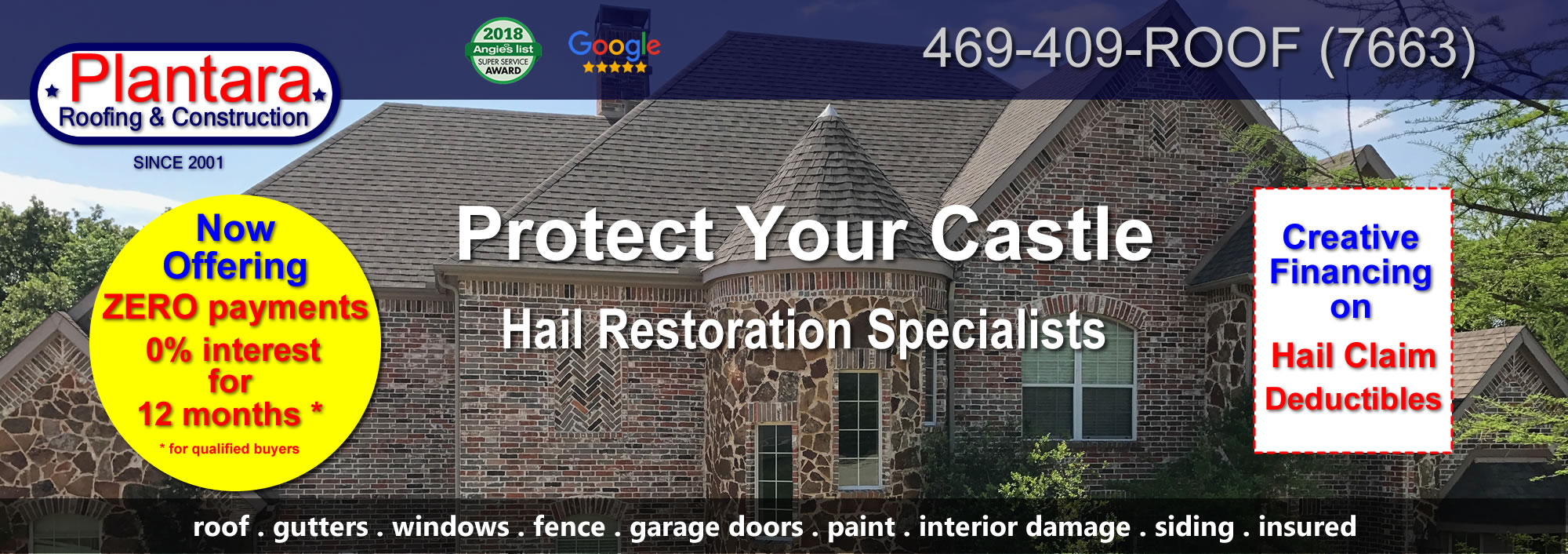Roofing company specializing in roof installation